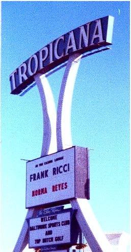 Frank Ricci at the Tropicana, Las Vega